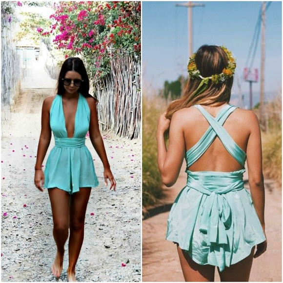 ab37b5d77a NWT Sisters the Label Silk Multi-Way Playsuit